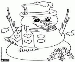 Kleurplaten Sneeuwpoppen Kleurplaat