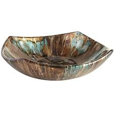 Turquoise Decorative Bowl Turquoise Taupe Foiled Bowl Pier 100 Imports Taupe Color 3