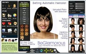 test dye your hair black online with virtual hairstyles on your face photo