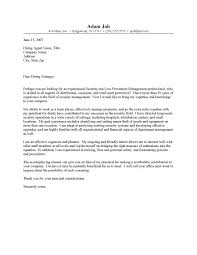 office manager cover letter - Asset Protection Manager Cover Letter