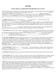 Residential Lease Agreement - 77 Free Templates In Pdf, Word, Excel ...