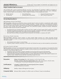 Sample Resume Accountant Usa New Staff Accountant Resume Examples