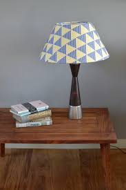 Blue And Yellow Lamp Shade Zig Zag