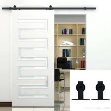 Wood Sliding Barn Door Modern Hardware Indoor Doors Interior ...