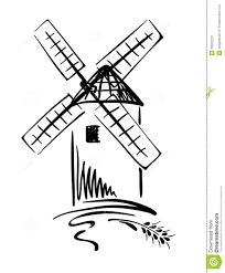 farm windmill drawing. Graphic Illustration - Windmill Farm Drawing