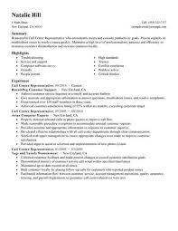 Call Center Representative Resume Samples