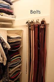 belts closet organizer