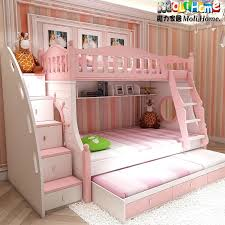 Children Bed Kids Princess Beds Queen Barbie Pink Doll Toddler Children  Girls Canopy Castle Playroom Bedroom . Children Bed ...