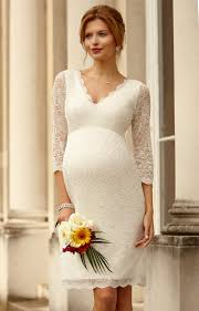 pregnant wedding dresses. Chloe Lace Maternity Wedding Dress Ivory Maternity Wedding