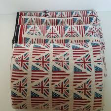 details about tommy hilfiger sheet set full queen size 4 piece union jack flag red white blue