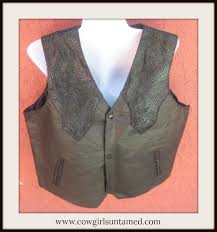 beautiful genuine leather western vests