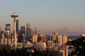 Seattle Cityscape Space Needle Seattle Washington Seattle Cityscape Mount