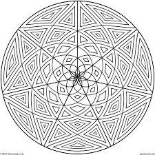 Geometric Page Pattern Coloring Sheets Geometrip