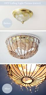 genius diy lighting idea from maegan diy rope pendant lamp how to disguise old and ugly ceiling fixtures without rewiring