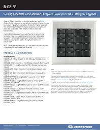 Designer Faceplates B G2 Fp Electronic Datasheets Manualzz Com