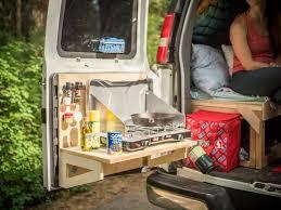 van kitchen interior