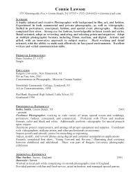 Resume For A Photographer Freelance Photographer Resume Ideas