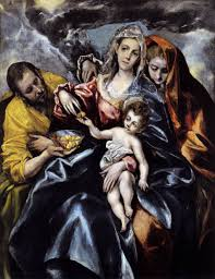 el greco paintings el greco the holy family with mary magdalen about 1590 to 1595