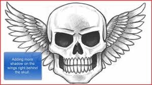 cool skull drawings 89507 how to draw a skull with wings part 1 of 2