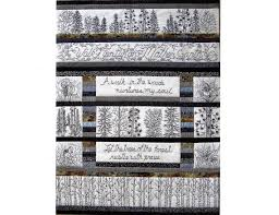 Woodland Walk in Black and White Quilt Pattern - 12 Hand ... & Woodland Walk in Black and White Quilt Pattern - 12 Hand Embroidery Blocks,  Label & Adamdwight.com
