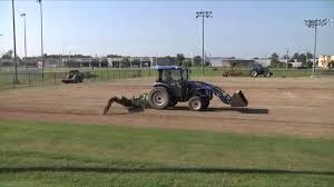 grass soccer field. Beautiful Grass Harding Soccer Field Being Leveled For New Grass Turf Intended Grass