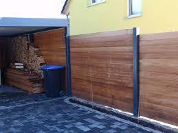Sichtschutzzaun Holz Metall Carport Anbau Verl Ngerung L Rche H He