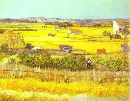 harvest landscape painting vincent van gogh harvest landscape art painting