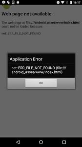 Android Error : ERR_FILE_NOT_FOUND(file:///android_asset/www/index ...