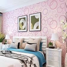 Wall Covering For Living Room Pvc Wallpaper Waterproof Circle Pattern Wallcovering For Living