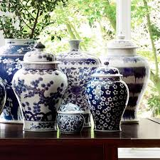 Decorative Jars And Vases Blue White Swallowtail Ginger Jar Williams Sonoma 34