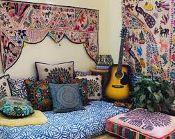 Image Couch Boho Hippie Decor Set Floor Seating Area Meditation Space Interior Design Boho Curtains Meditation Pillow Bohemian Tapestry Floor Cushion Etsy Floor Cushion Etsy
