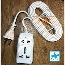 Ổ cắm điện du lịch đa năng 2 lỗ 2 mét 2200W 10A 250V VINAKIP