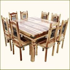 wood dining tables and chairs. peoria solid wood large square dining table \u0026 chair set for 8 people tables and chairs