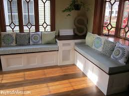 Kitchen Upholstered Breakfast Nook Utility Table