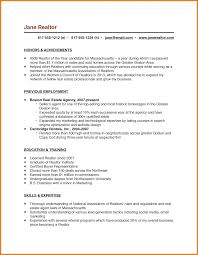 Full Time Real Estate Agent Resume Sample With Objective And