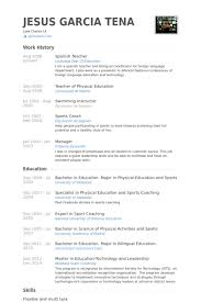 Spanish Resume Template Spanish Teacher Resume Samples Visualcv Resume  Samples Database Printable