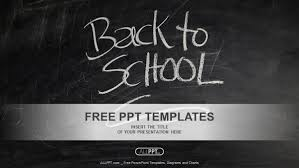 Chalkboard Ppt Theme Back To School Powerpoint Templates
