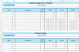 Accounting General Ledger Template Sample Of A General Ledger 7 General Ledger Journal Template Sample