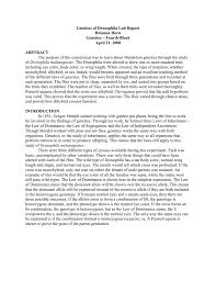 genetics of drosophila lab report brianna horn genetics fourth