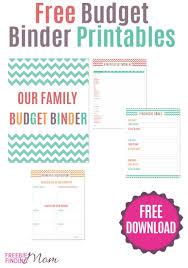 free printable budget binder