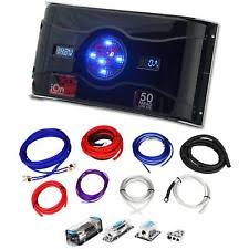 rockville awg car audio amplifier kits rockville dual 0 4 gauge multi amp wire kit dual meter 50 farad led capacitor