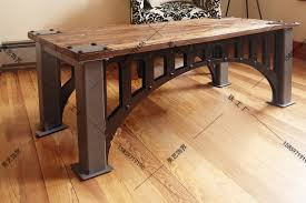 Industrial furniture table Farmhouse American French Industrial Furniture Loft Old Vintage Wrought Iron Coffee Table Made Of Solid Wood Coffee Table Tea Table Desk Aliexpress American French Industrial Furniture Loft Old Vintage Wrought Iron