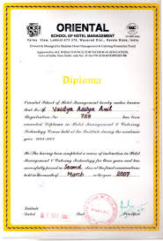 diploma hotel mgmt oriental school of hotel management approved by all council for technical education govt