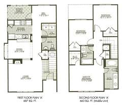 Modern Town House Two Story House Plans Three Bedrooms Houseplan Three Story Floor Plans