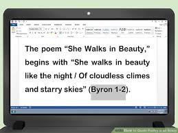 how to quote poetry in an essay pictures wikihow image titled quote poetry in an essay step 9