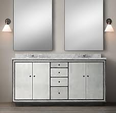 Strand Mirrored Double Vanity Sink I Restoration Hardware Restoration  Hardware Bathroom Vanity Sale Sink16