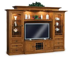 Wall Media Cabinet Amish Tv Entertainment Center Solid Wood Media Wall Unit Cabinet