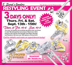 ad sample jeweler s restyling event sample advertisement jewelry secrets