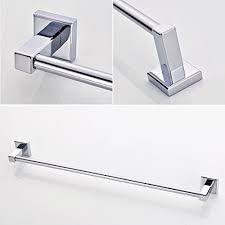 ROVATE Bathroom Single Towel Bar 25 Brass Wall Mounted Towel Rod