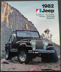 1982 jeep cj5 cj7 scrambler pickup cherokee wagoneer original s brochure amc